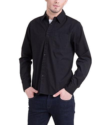 Big Star Camicia Uomo Basimo Shirt Ls Nero M