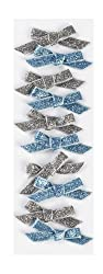 Martha Stewart Crafts Silver and Blue Bow Stickers