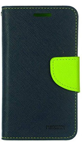 Samsung Galaxy Grand Quattro GT8552 Mercury Flip Wallet Diary Card Case Cover (Blue/Green + USB) By Mobile Life  available at amazon for Rs.199