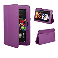 "Purple Kindle Fire HD 8.9"" Purple Flip Leather Case Cover Multi-Function Flip Folio Stand with Magnetic Auto Sleep Wake, with free Screen Protector plus Touch Stylus Pen for Amazon Kindle Fire HD 8.9"" INCH Wi-Fi 16GB + 32 GB by pjp electronics"