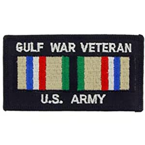 U.S. Army Gulf War Veteran Ribbon Patch 4""