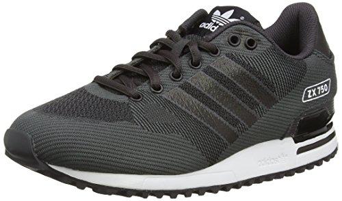 Adidas Zx 750 Woven, Scarpe da Ginnastica Basse Uomo, Nero (Shadow Black/Core Black/Ftwr White), 44 EU