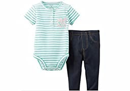 Carters Baby Girls 2 Piece Jeggings Set