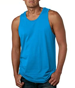 NEXT LEVEL Men's Jersey TankL Turquoise 3633