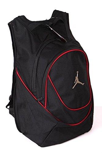 (ジョーダン) Jordan カラー ラインド バックパック 黒赤 (並行輸入品) 111-0029