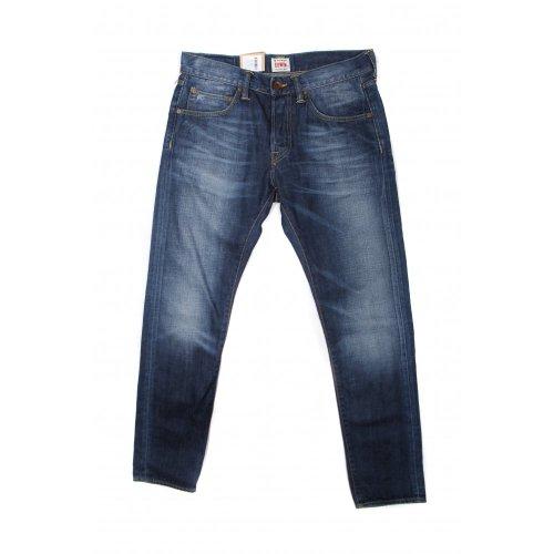 Edwin mens ED-55 relaxed taper fit 11.25oz denim jeans in blue heavy o-wash (SIZE: W34/L32)