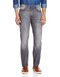 Locomotive Men's Straight Fit Jeans (15140001460654_LMJN004019_30W x 33L_Grey)