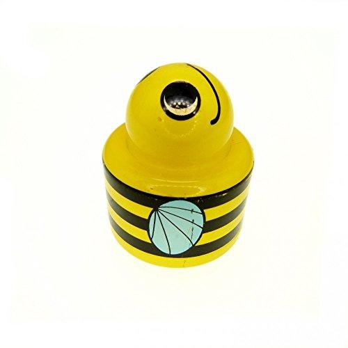 1 x Lego Duplo Primo Tier Rassel Biene gelb 1 x 1 rund Hummel Baustein Motiv Stein Baby 31005 pb01