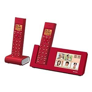 SHARP インテリアホン コードレス電話機 デジタルフォトフレーム 子機2台タイプ 4.3型カラー液晶搭載 レッド系 JD-4C1CW-R