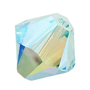 SWAROVSKI ELEMENTS Crystal #5328 8mm Bicones Beads Light Azore AB (8)