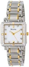 Bulova Womens 98R112 Diamond Accented Two-Tone Stainless