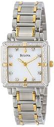 Bulova Women's 98R112 Diamond Accented Two-Tone Stainless Steel Bracelet Watch
