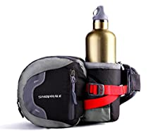 SNOWHALE S0513 Multifunctional Water Resistant Waist Pack with Water Bottle Holder (The Bottle Is Not Included) for Running Hiking Cycling Camping Travel