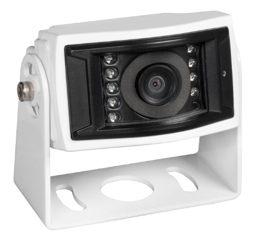 Voyager Vccs155 Color Ccd Ir Led Camera, White, High Performance Color Optics, Waterproof (Ip69K), 155 Degrees Viewing Angle, Ir Low Light Assist (9 Leds), Mirro Image Orientation, Microphone, White Aluminum Housing, Corrosion Resistant (Astm B117)