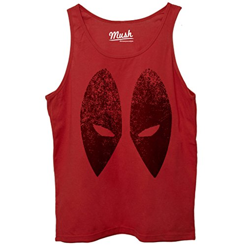 Canotta DEADPOOL FACE - FILM by Mush Dress Your Style - Donna-L-Rossa