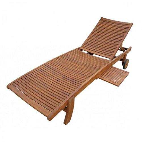 Sonnenliege SPRINGFIELD Liegestuhl aus FSC Eukalyptus Holz Liege Liegestuhl Gartenliege Deckchair