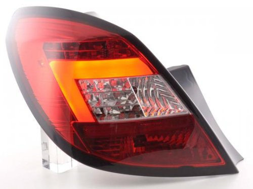 Taillights Set Led Opel Corsa D 5-Door Yr. 06-10 Red/Clear