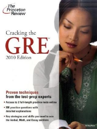 Cracking the GRE, 2009 Edition (Graduate School Test Preparation)