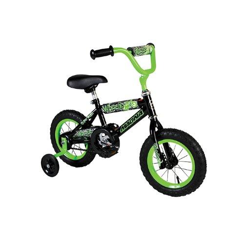 Dynacraft Boy's Magna Wheelie Bike (Green/Black, 12-Inch)
