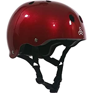 Triple 8 Brainsaver Glossy Helmet with Standard Liner by Triple 8