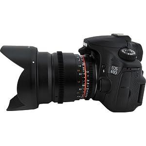 16/2,2 Objektiv VDSLR für Canon, EOS 7D, 10D, 20D, 30D, 40D, 50D, 60D, 70D, 100D, 300D, 350D, 400D, 450D, 500D, 550D, 600D, 700D, 1000D, 1100D & 1200D Digital SLR Cameras + AAdigital Bouns