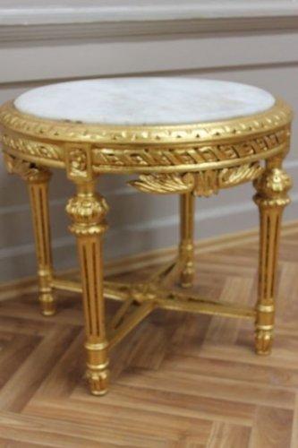 Tavolino rotondo in legno awta0254gowe barocco di stile antico
