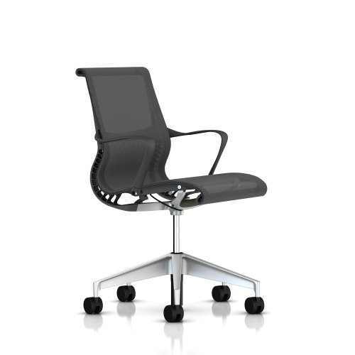 Buy Setu Office Chair By Herman Miller With Arms Slate Grey Frame