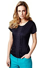 Per Una Front Pleat Crochet Top