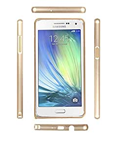 DENICELL Royal Dual Tone Circular Metal Bumper For Samsung Galaxy Note 1 (Silver Aluminium Bumper)