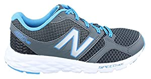 New Balance Women's W490V3 Running Shoe, Dark Grey/Blue, 9.5 B US