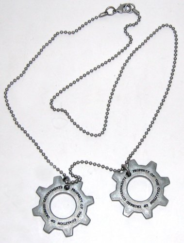 Gears of War 3 Distressed Metal Replica Cog Tags - 1
