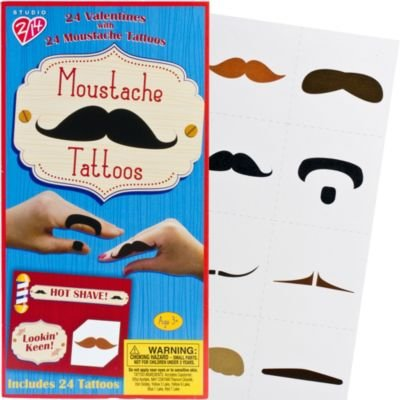 Deluxe Moustache Valentines Day Cards 24ct from Mustache