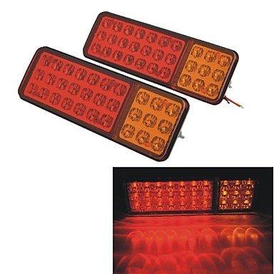24v-vehicle-car-truck-30-led-brake-stop-tail-rear-warning-light-lamp-red-yellow-2pcs