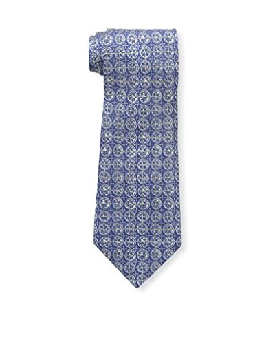 Hermès Men's Patterned Silk Tie, Blue