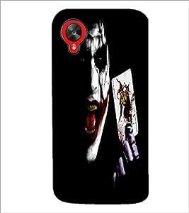 PrintDhaba Joker D-2271 Back Case Cover for LG GOOGLE NEXUS 5 (Multi-Coloured)