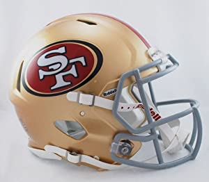 NFL San Francisco 49ers Speed Authentic Football Helmet by Riddell