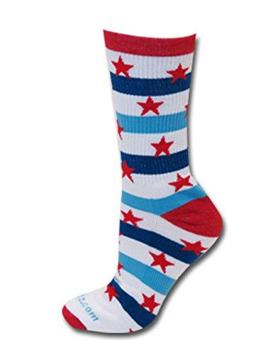 Patriot Crew Socks Royal/Red Sm front-236118