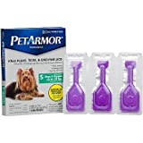 PETARMOR Topical Flea & Tick Treatment for Dogs & Puppies, For Dogs up to 22 lbs.
