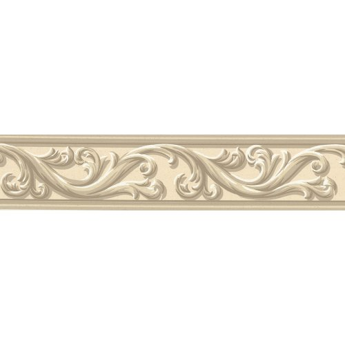 Waverly 578840 Architectural Scroll Wall Border, Beige, 4.5-Inch Wide
