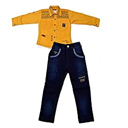Colors Kids Shirt T-Shirt And Pant Combo Pack For Boys(2 - 3 Years)