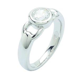 Fossil Damen-Ring 925 Sterling Silber Zirkonia Gr.17 JF16841040