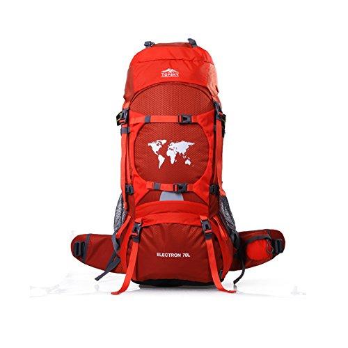 Sac d'escalade en plein air / sac à dos Voyage / forfait de camping de randonnée imperméable à l'eau-Orange 1 70L