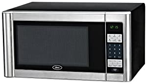 Oster AM1180SS 1.1-Cubic Foot, 1000-Watt Countertop Microwave Oven, Stainless Steel Finish