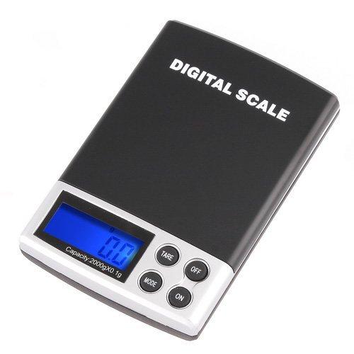 SODIAL(R) 2000g/0.1g Ecran LCD Balance Electronique Numerique de Poche