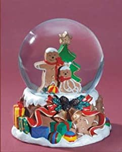 Gingerbread Men Musical Snow Globe - We Wish You a Merry Christmas