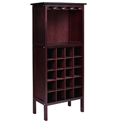 Wood Wine Cabinet Storage Home Dr Liquor Bar Glass Rack Bottle Holder (Hutch Wine Rack compare prices)