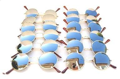 QLook John Lennon Style Sun Glasses Shades - Mirror / Gold w/ Micro Case at Sears.com