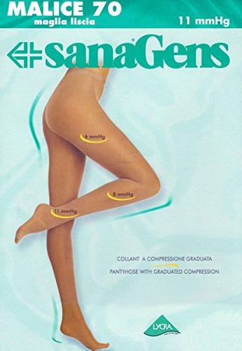 Sanagens Collant Malice 70 den 11 mmHg, mis.2, Nero