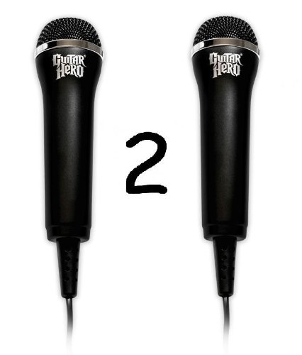 Two (2) Official Guitar Hero Microphone Combo [Wii/Xbox 360/PS3]
