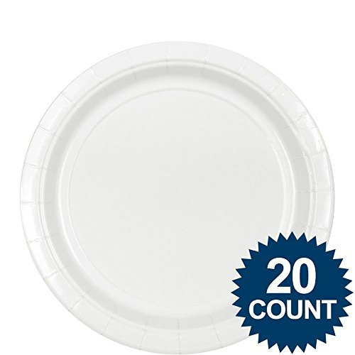 "Plt 9"" Hi Ct Frosty White 20ct - 1"